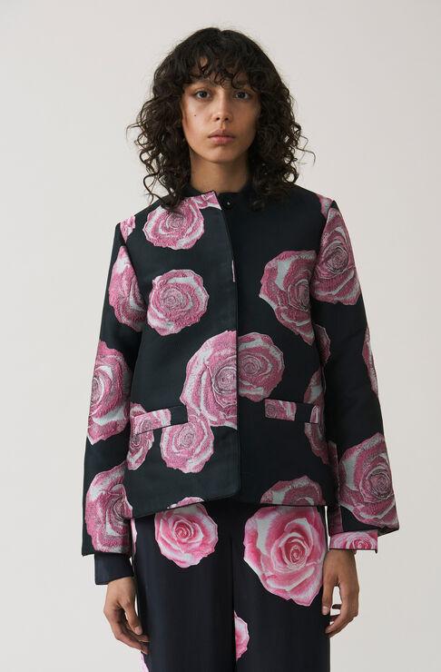 Turenne Jacquard Jacket, Black, hi-res