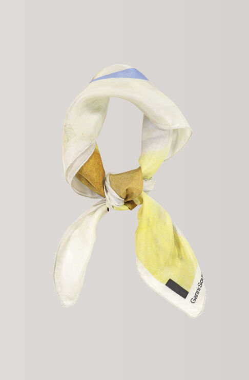Kras Silk Scarf, Apollo, Egret, hi-res