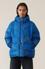 Printed Tech Down Jacket, Lapis Blue, hi-res