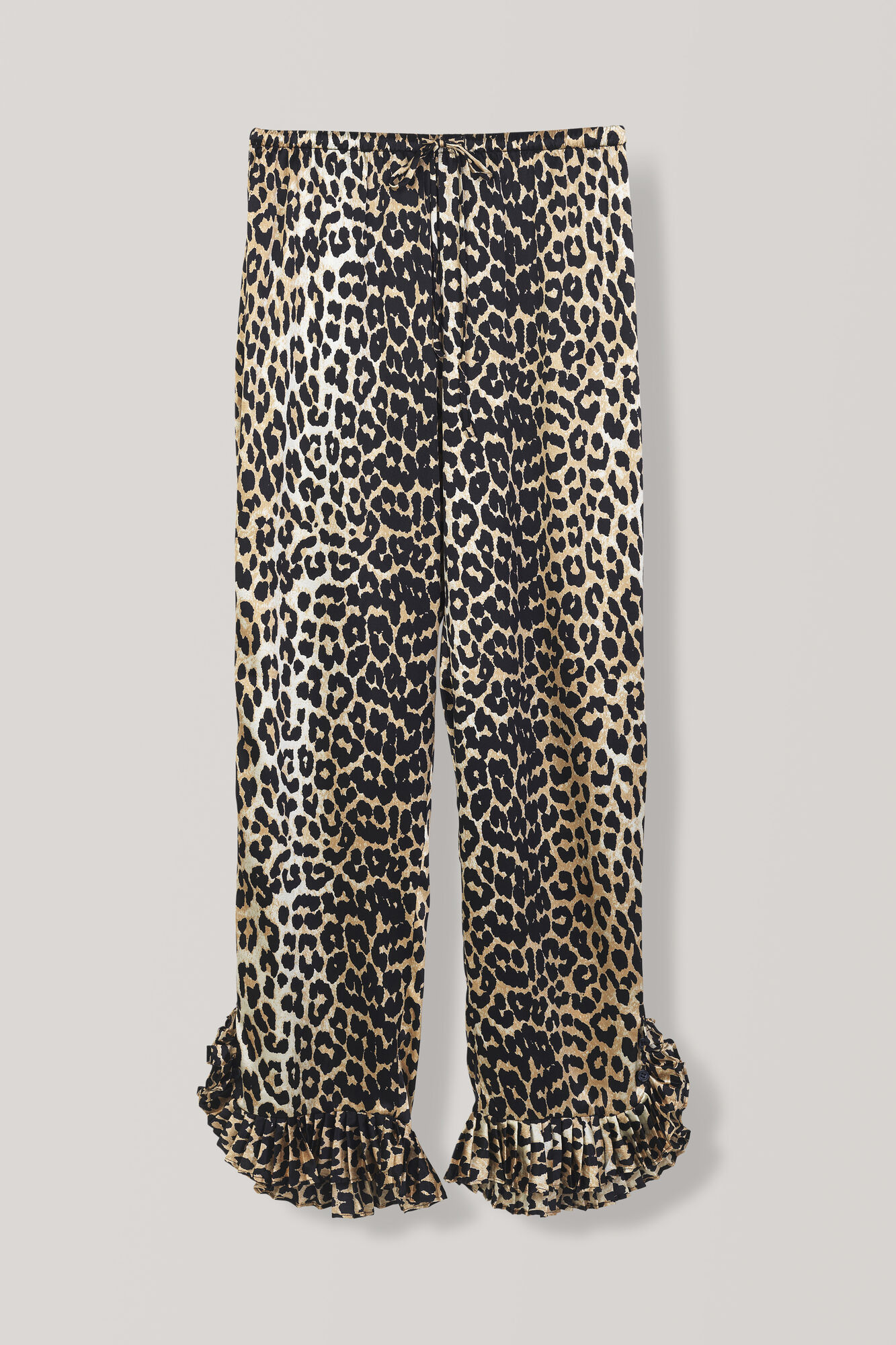 Calla Silk Pants, Leopard, hi-res