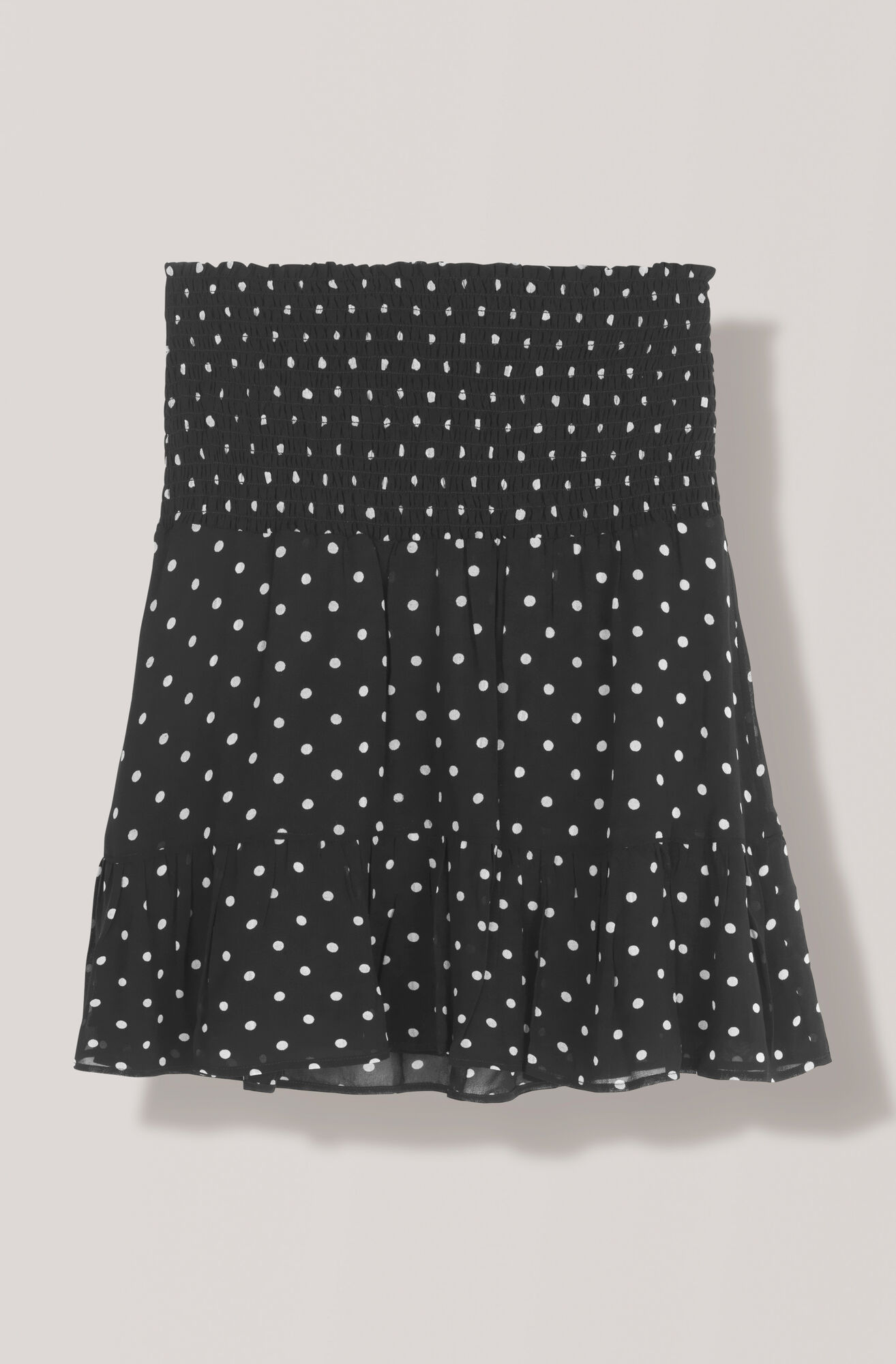 Merton Georgette Mini Skirt, Black, hi-res