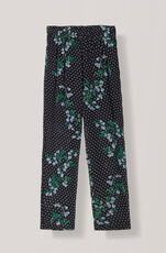 Rometty Georgette Pants, Black, hi-res