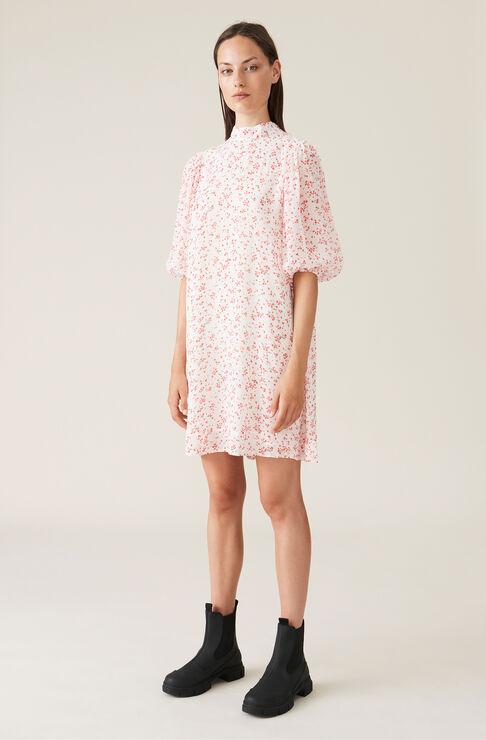 Ganni Mini dresses PRINTED GEORGETTE MINI DRESS