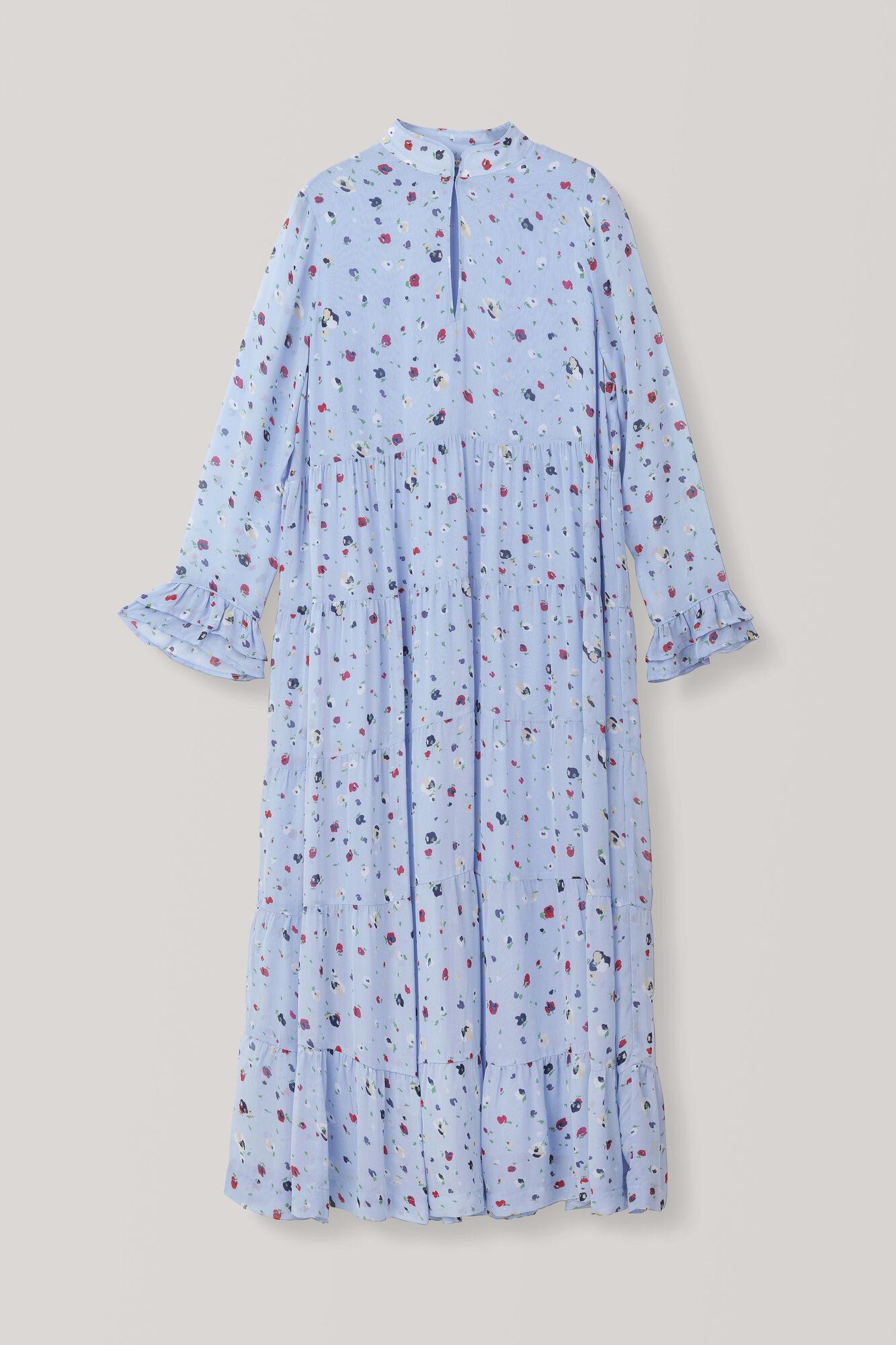Dainty Georgette Dress, Serenity Blue, hi-res