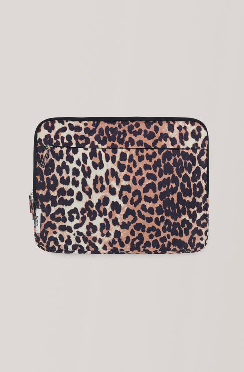 Tech Fabric Accessories Laptop Sleeve, Leopard, hi-res