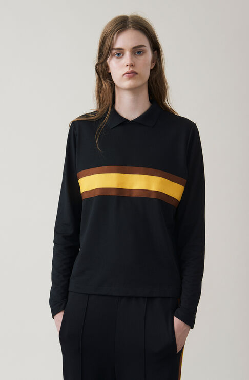 Dubois Polo Blouse, Black, hi-res