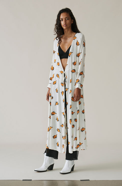 Roseburg Crepe Wrap Dress, Vanilla Ice, hi-res