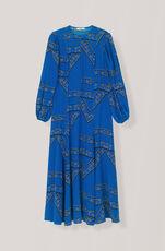 Sandwashed Silk Maxikleid, Lapis Blue, hi-res