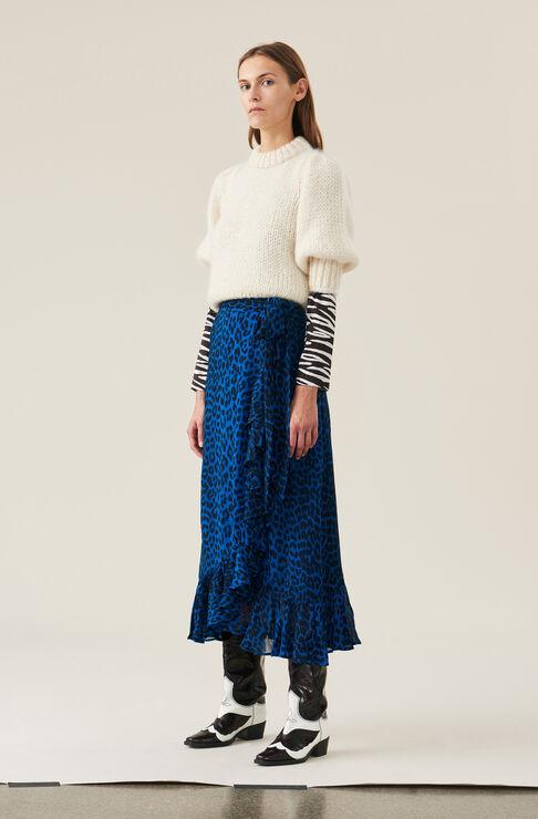 Carnivora Leopard Love for Leopard Wrap Skirt, Lapis Blue, hi-res
