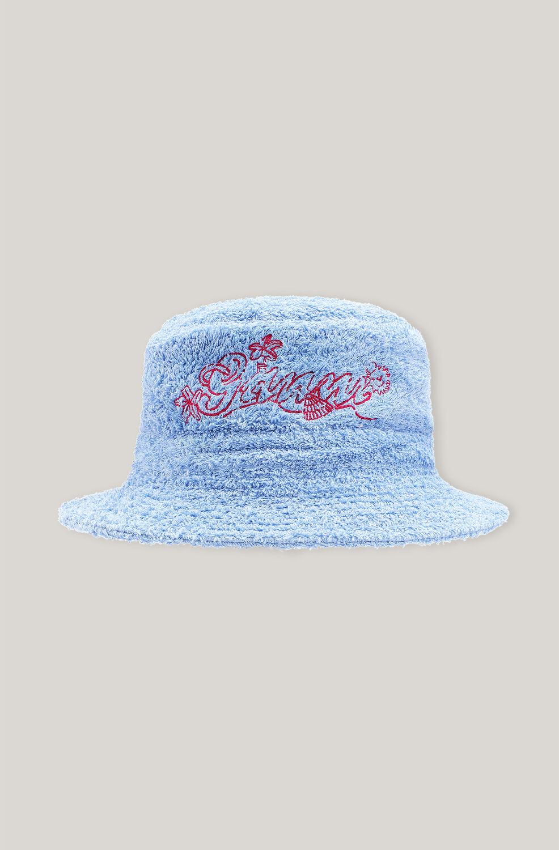 가니 버킷햇 Ganni Beach Terry Terry Bucket Hat,Forever Blue