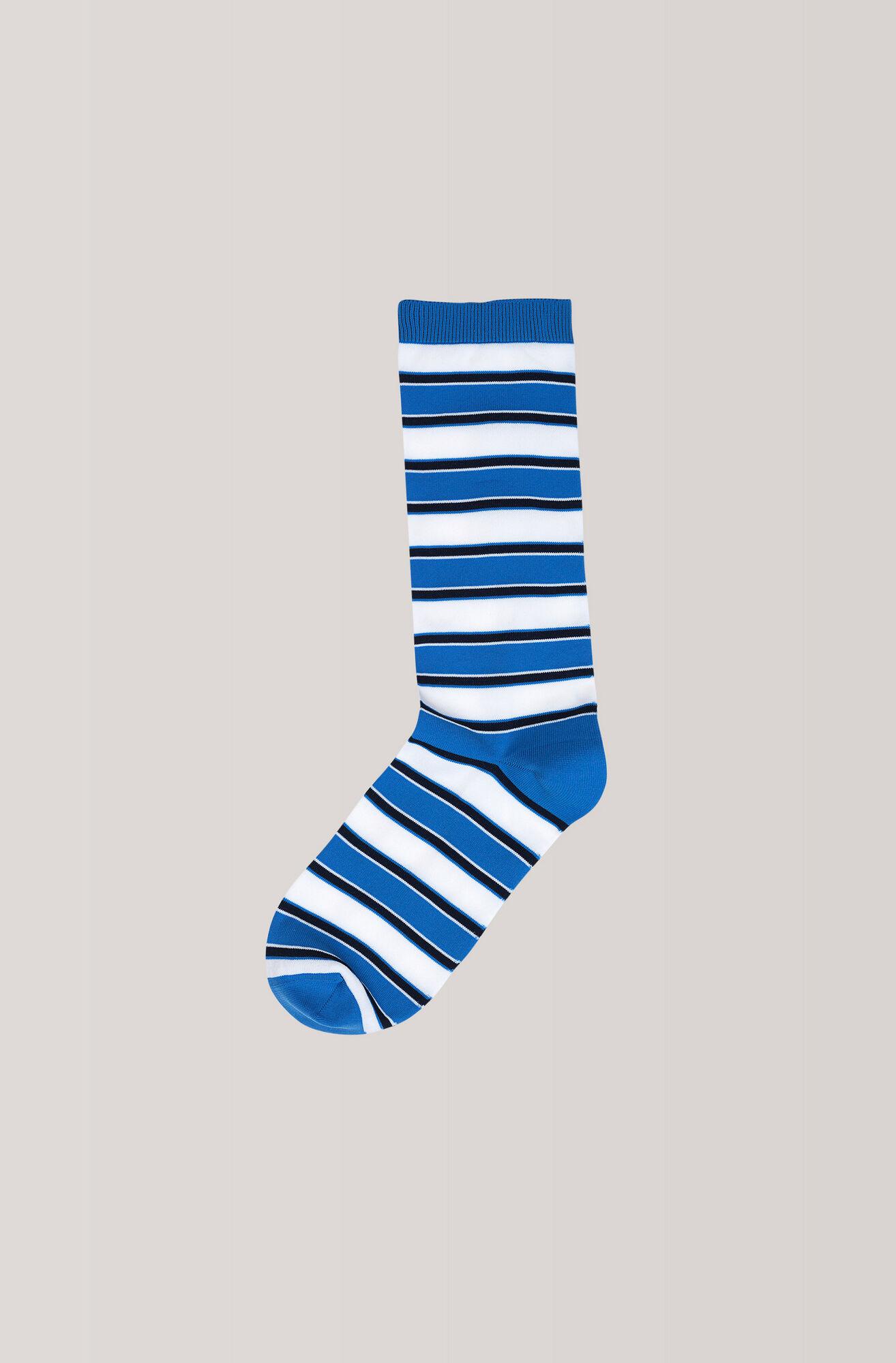 Stripes Ankle Socks, Marina, hi-res