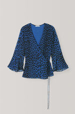 Carnivora Leopard Love for Leopard Wrap Top, Lapis Blue, hi-res
