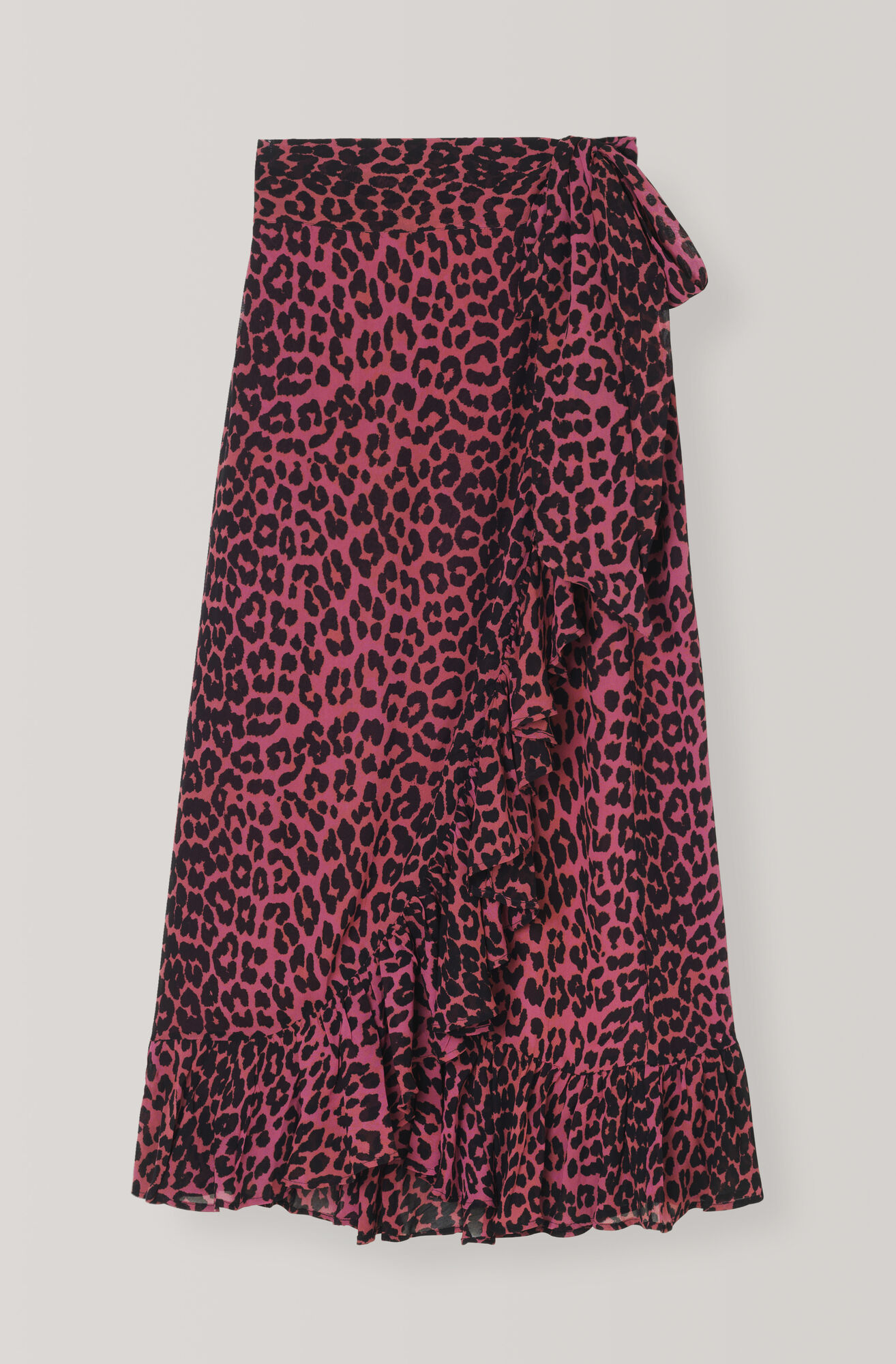 Carnivora Leopard Love for Leopard Wrap Skirt, Hot Pink, hi-res