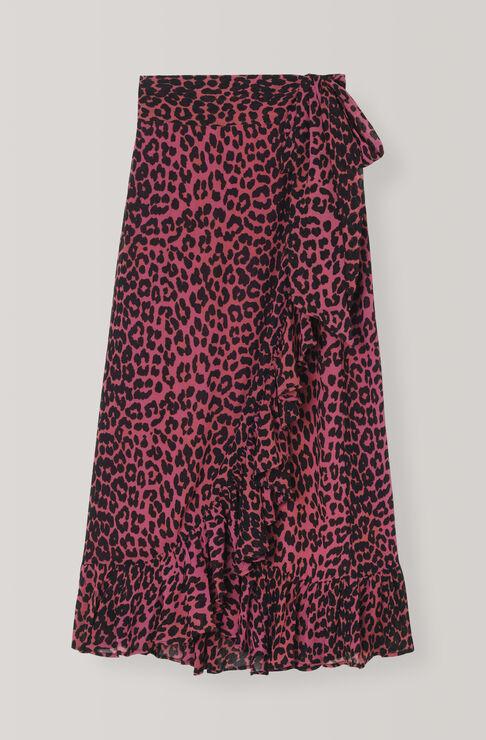 Carnivora Leopard Love for Leopard Wrap Skirt, Hot Pink, hi-res