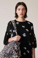 Dainty Georgette Mini Dress, Black, hi-res