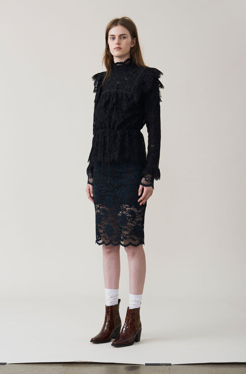 Jerome Lace Blouse, Black, hi-res