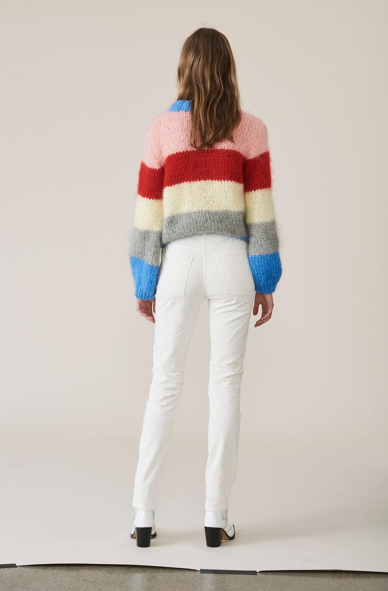 Stretch Corduroy Slim Pants, Egret, hi-res