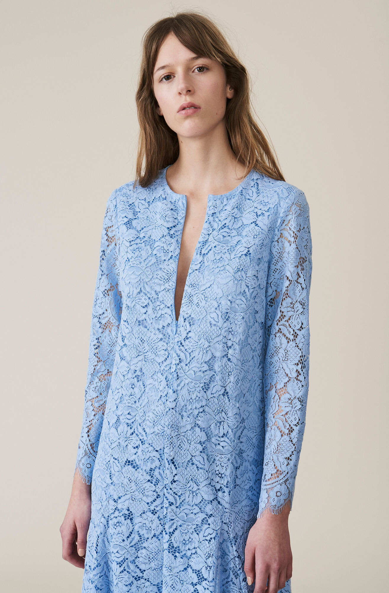 Jerome Lace Maxi Nederdel, Serenity Blue, hi-res