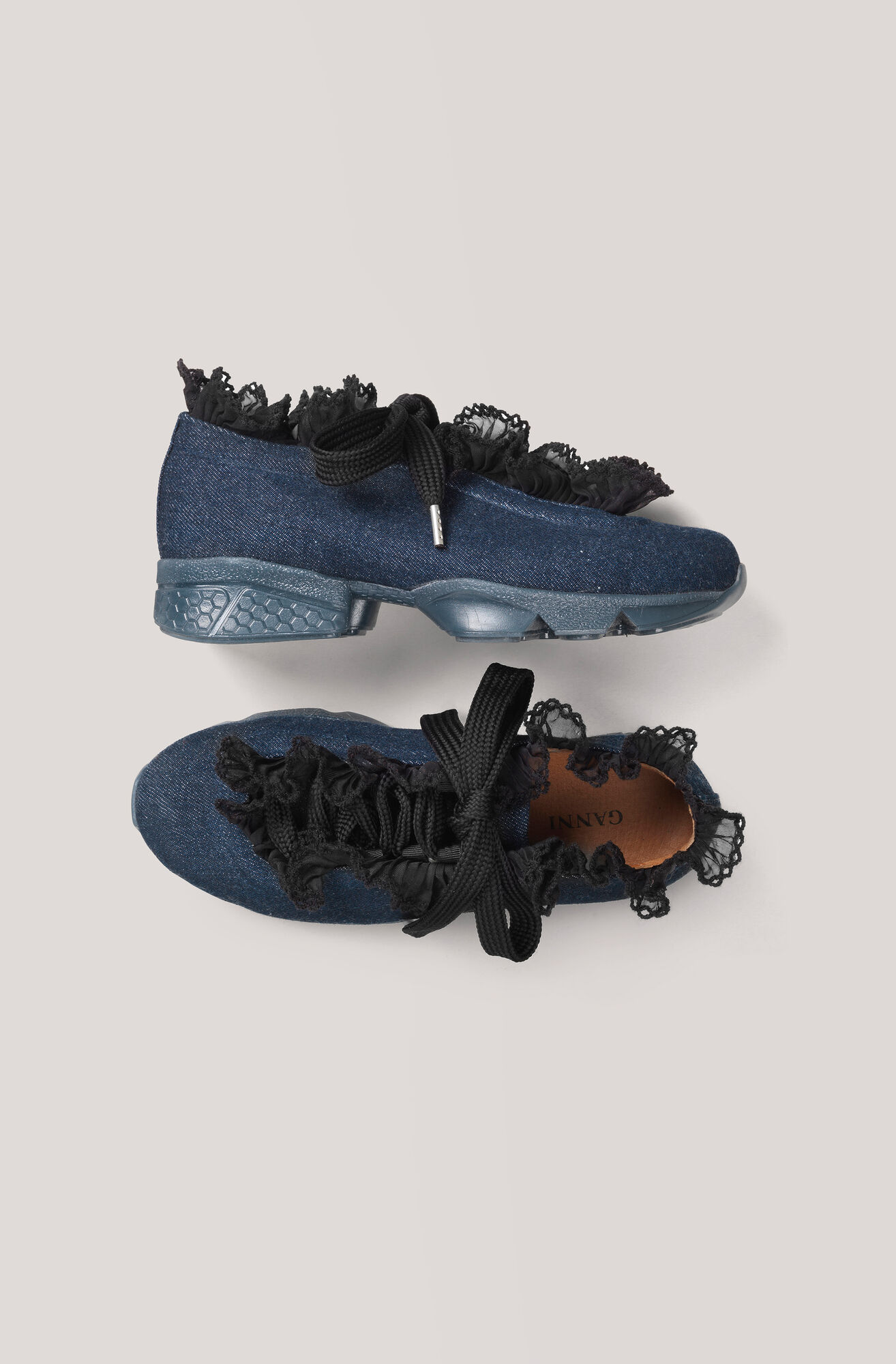 Ariana Sneakers, Denim, hi-res