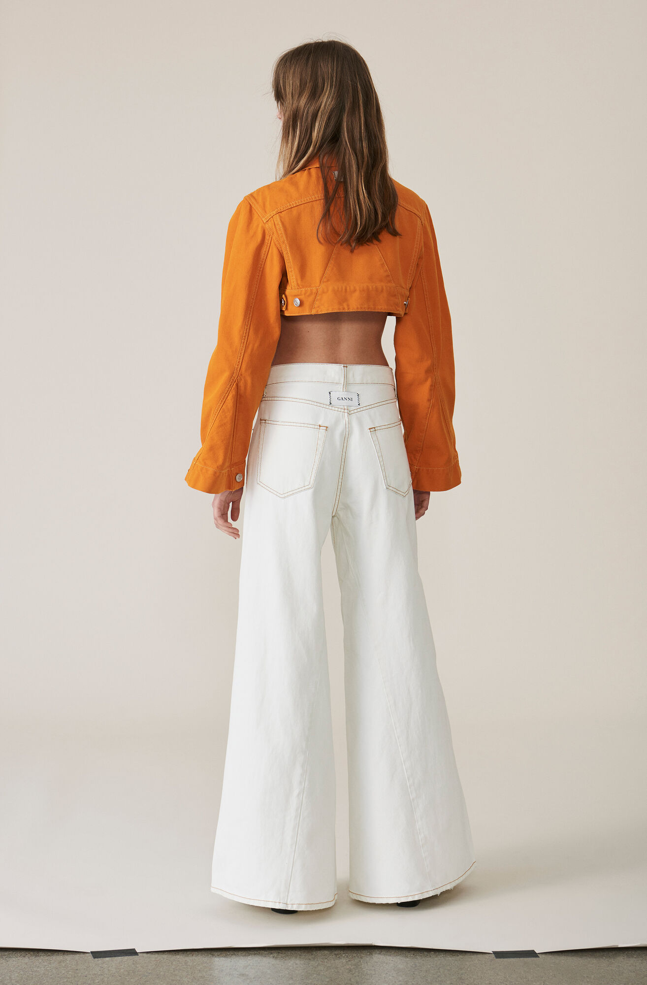 Denim Runway Pants, Bleach, hi-res