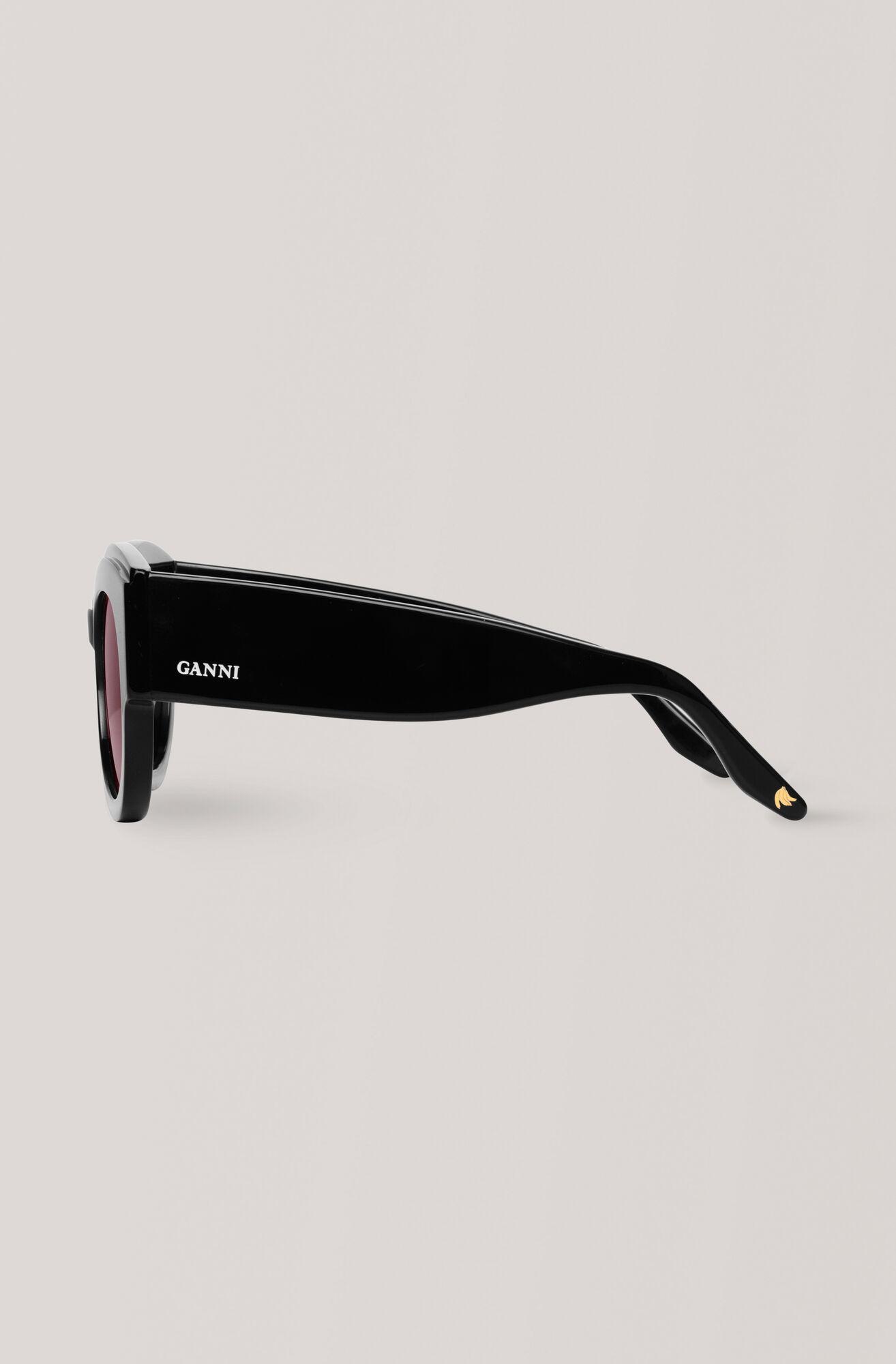 Round Sunglasses Solbriller, Black, hi-res