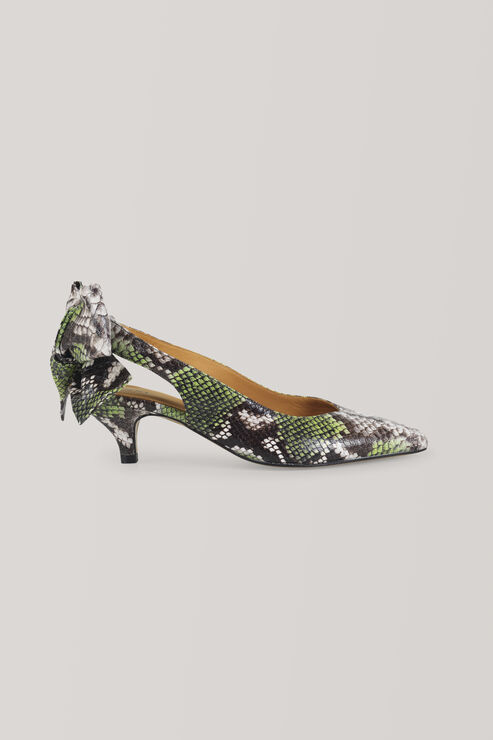 Bow Kitten Heel Pumps, Classic Green, hi-res