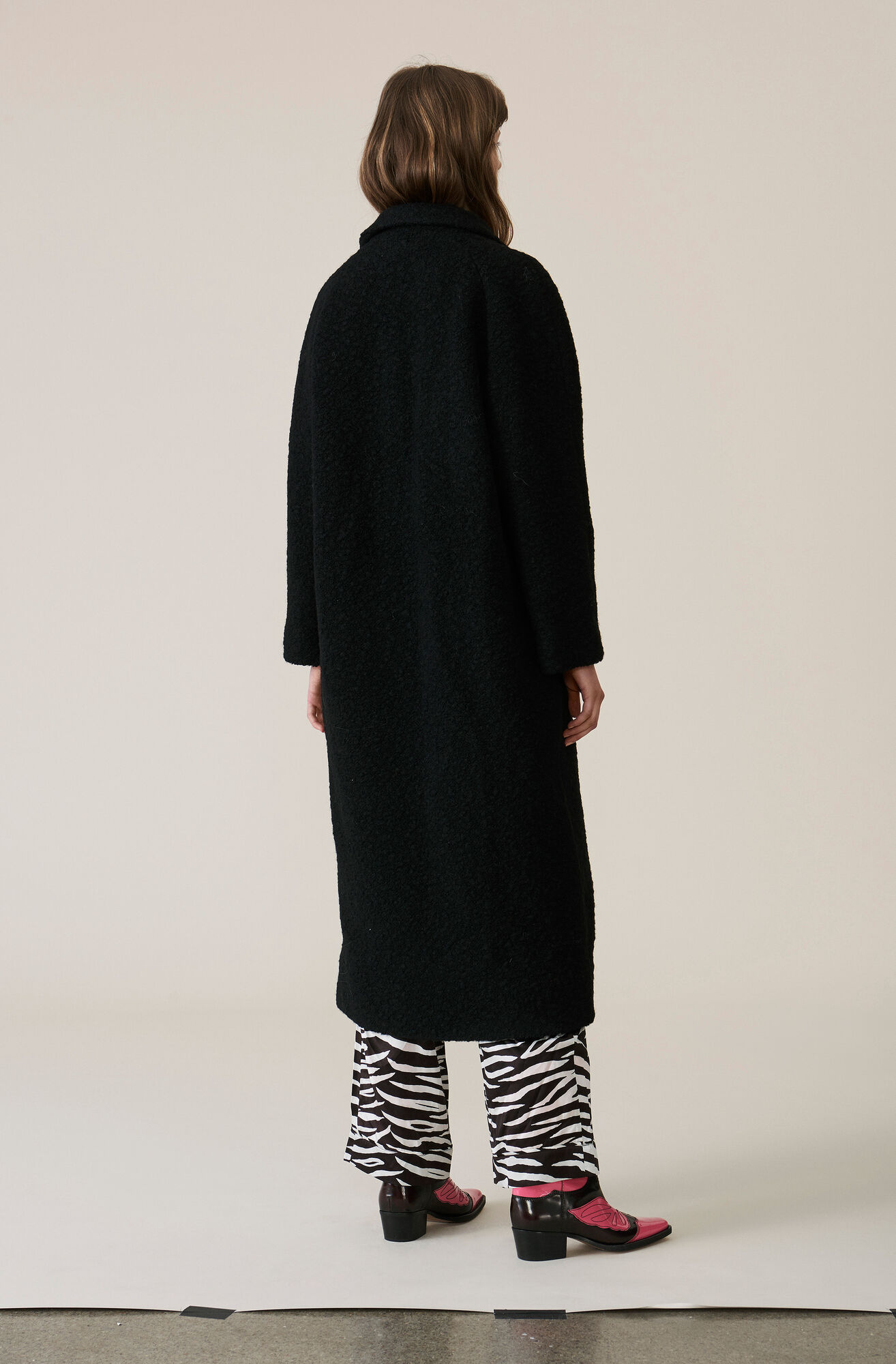 Fenn Long Wrap Coat, Black, hi-res