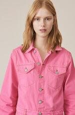 Denim Jumpsuit, Hot Pink, hi-res
