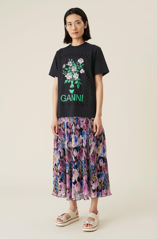 가니 플리츠 롱스커트 Ganni Pleated Georgette Midi Skirt,Multicolour