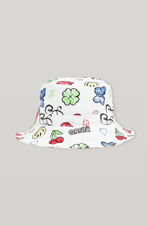 가니 버킷 햇 Ganni Cotton Canvas Hats Bucket Hat,Multicolour