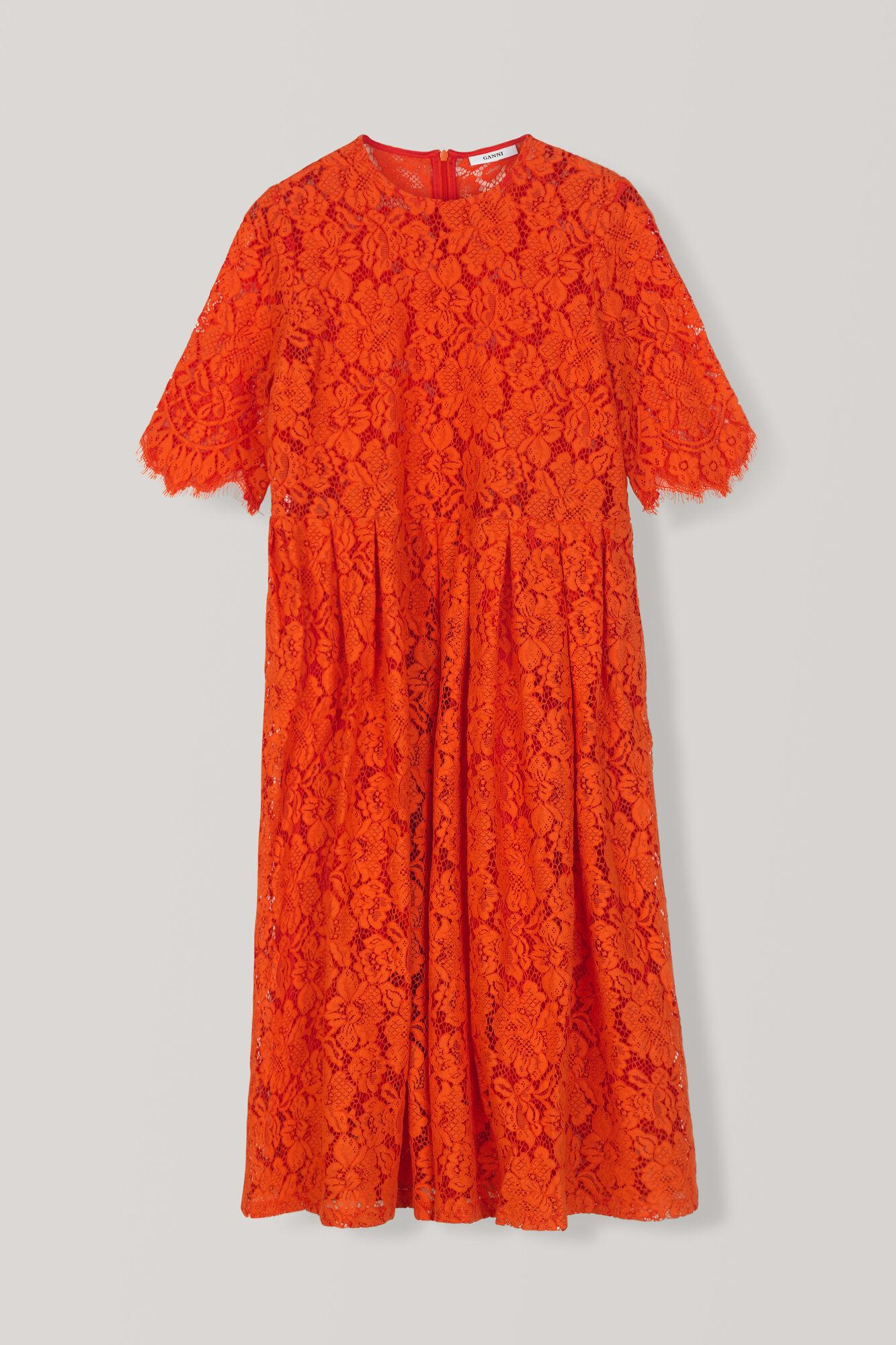 Jerome Lace Dress, Big Apple Red, hi-res