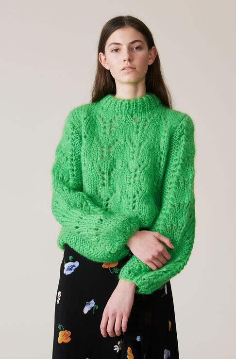 The Julliard Mohair Pullover, Classic Green, hi-res