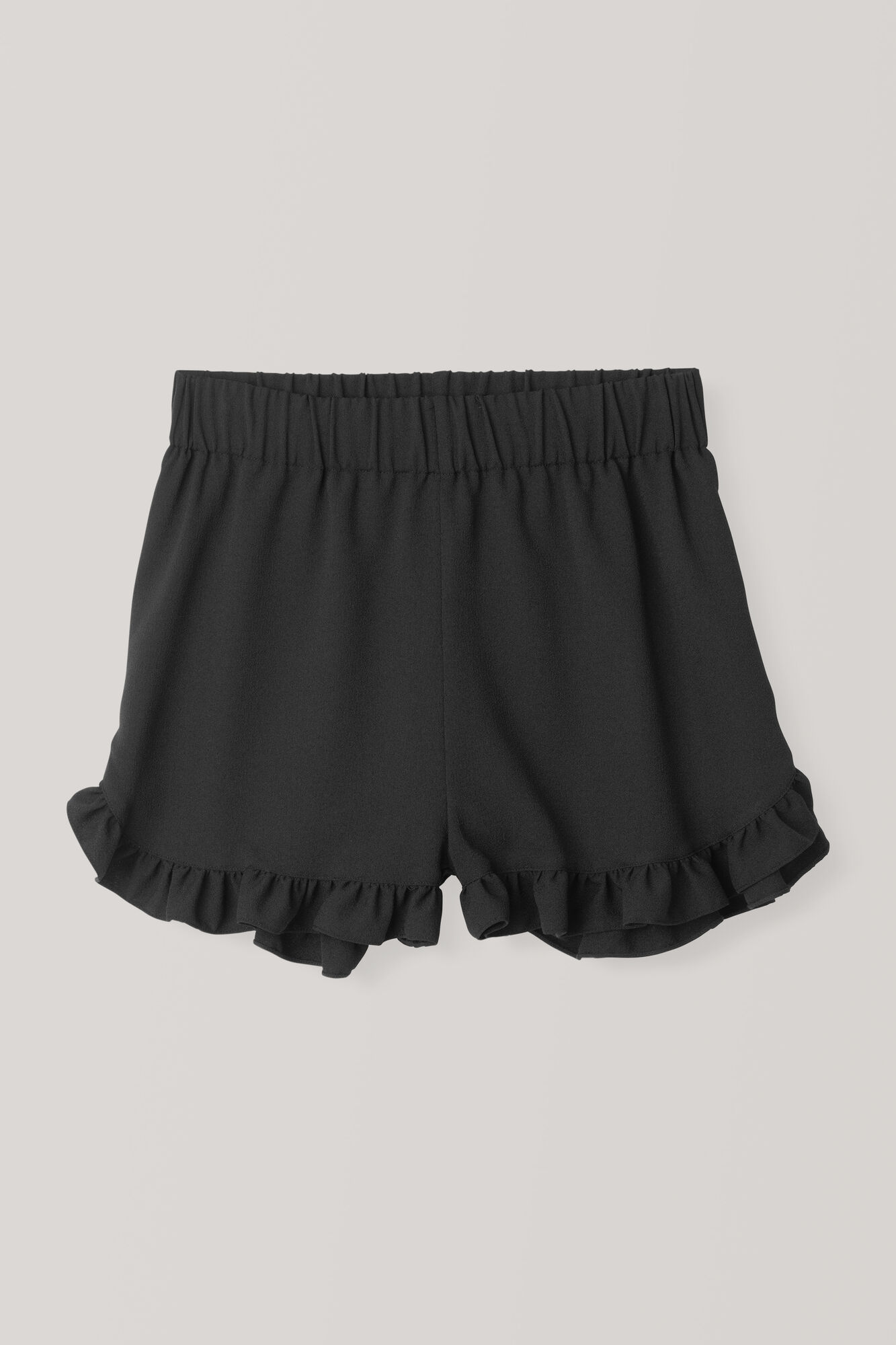 Heavy Crepe Shorts, Black, hi-res