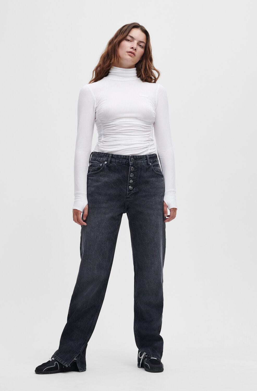 가니 블랙진 Ganni Lovy Jeans,Black/White Vintage