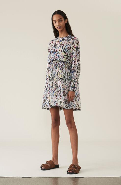 b4a7931b69 Pleated Georgette Mini Dress