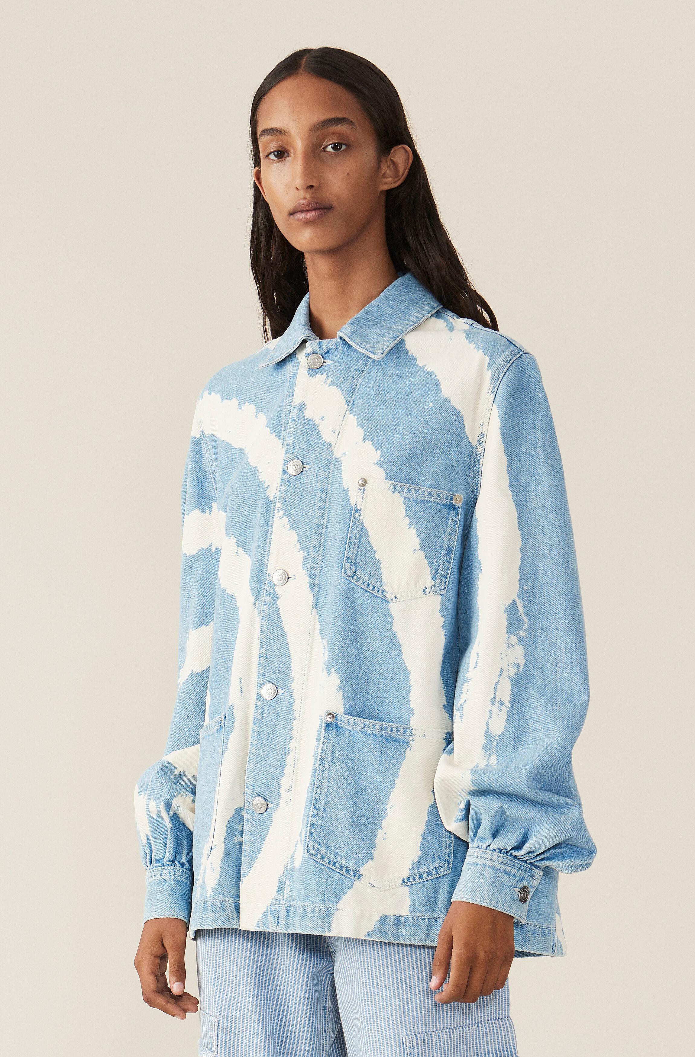 3f7707ba019 GANNI Blue Washed Denim Shirt - Bleach Tie Dye ( 430.00 GBP )