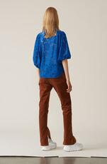 Cotton Lace Skjorte, Lapis Blue, hi-res