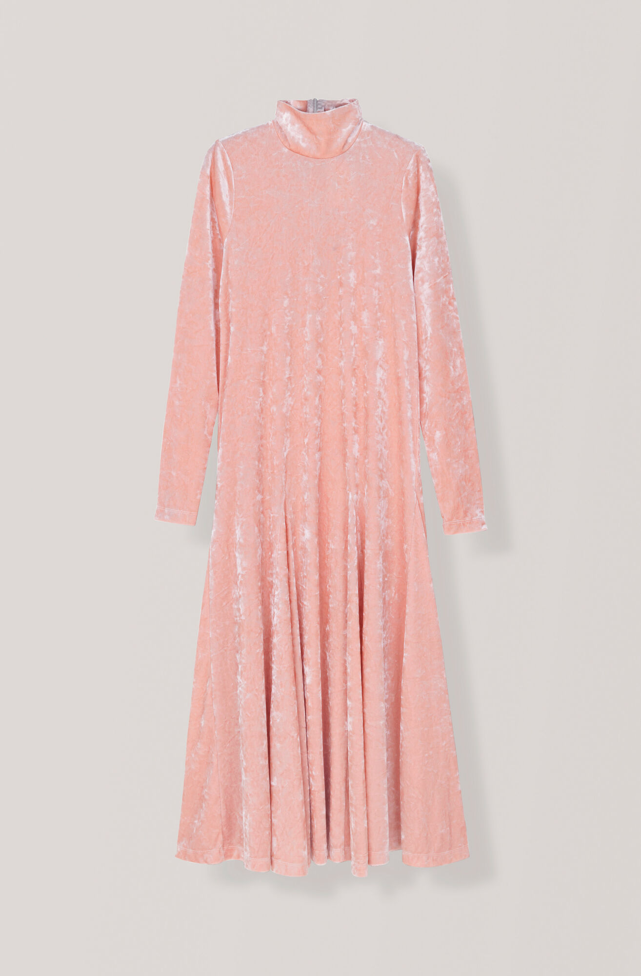 Stretch Velvet Maxi Dress, Silver Pink, hi-res