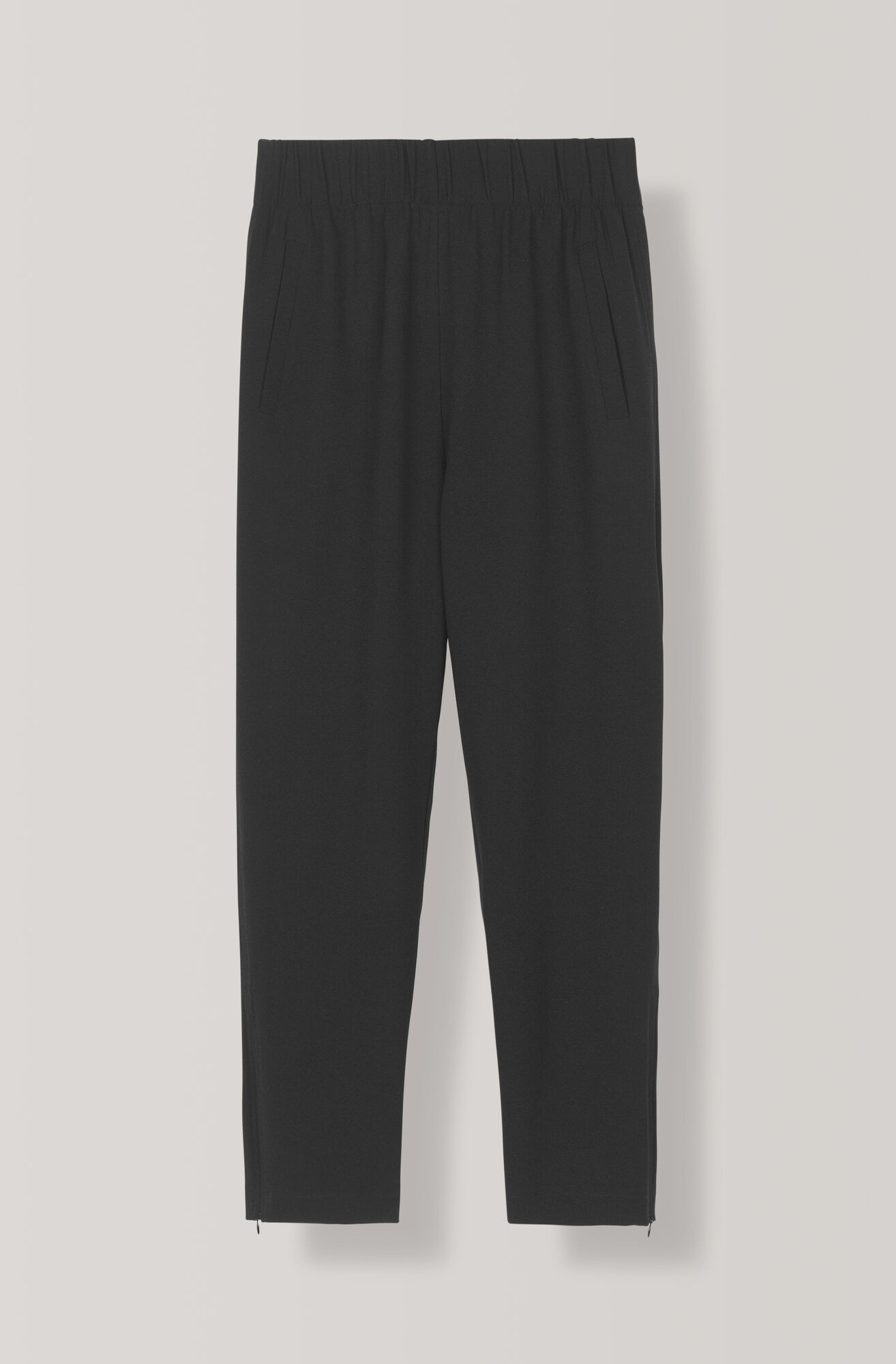 Heavy Crepe Pants, Black, hi-res