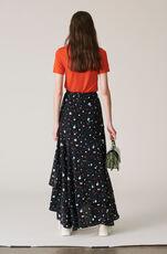 Nolana Silk Wrap Skirt, Black, hi-res