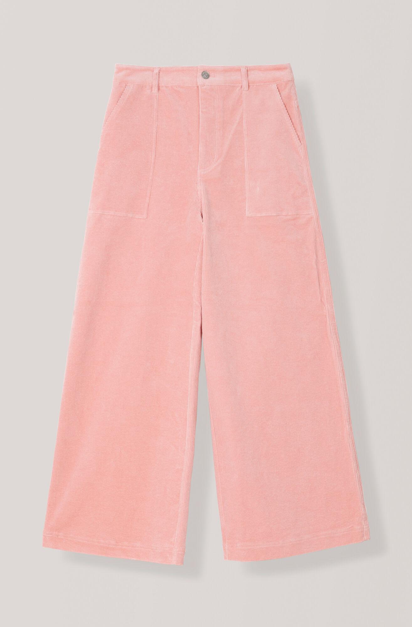 Stretch Corduroy Weite Hose, Silver Pink, hi-res