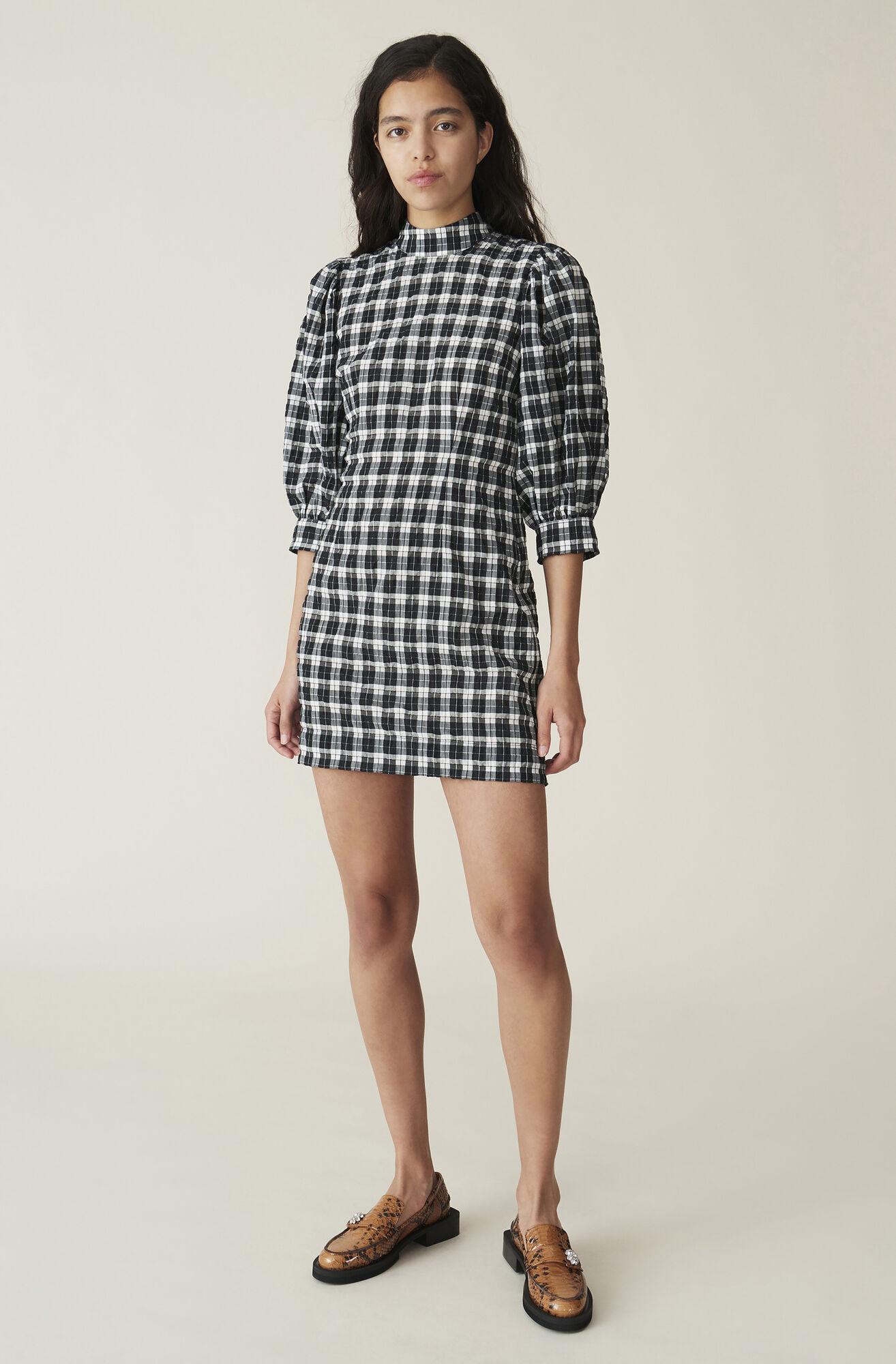 Ganni Seersucker Check Mini Dress 82 00 Eur Shop Your New
