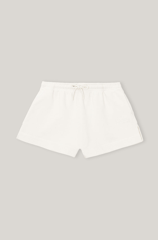 Ganni Software Isoli Drawstring Shorts,Egret