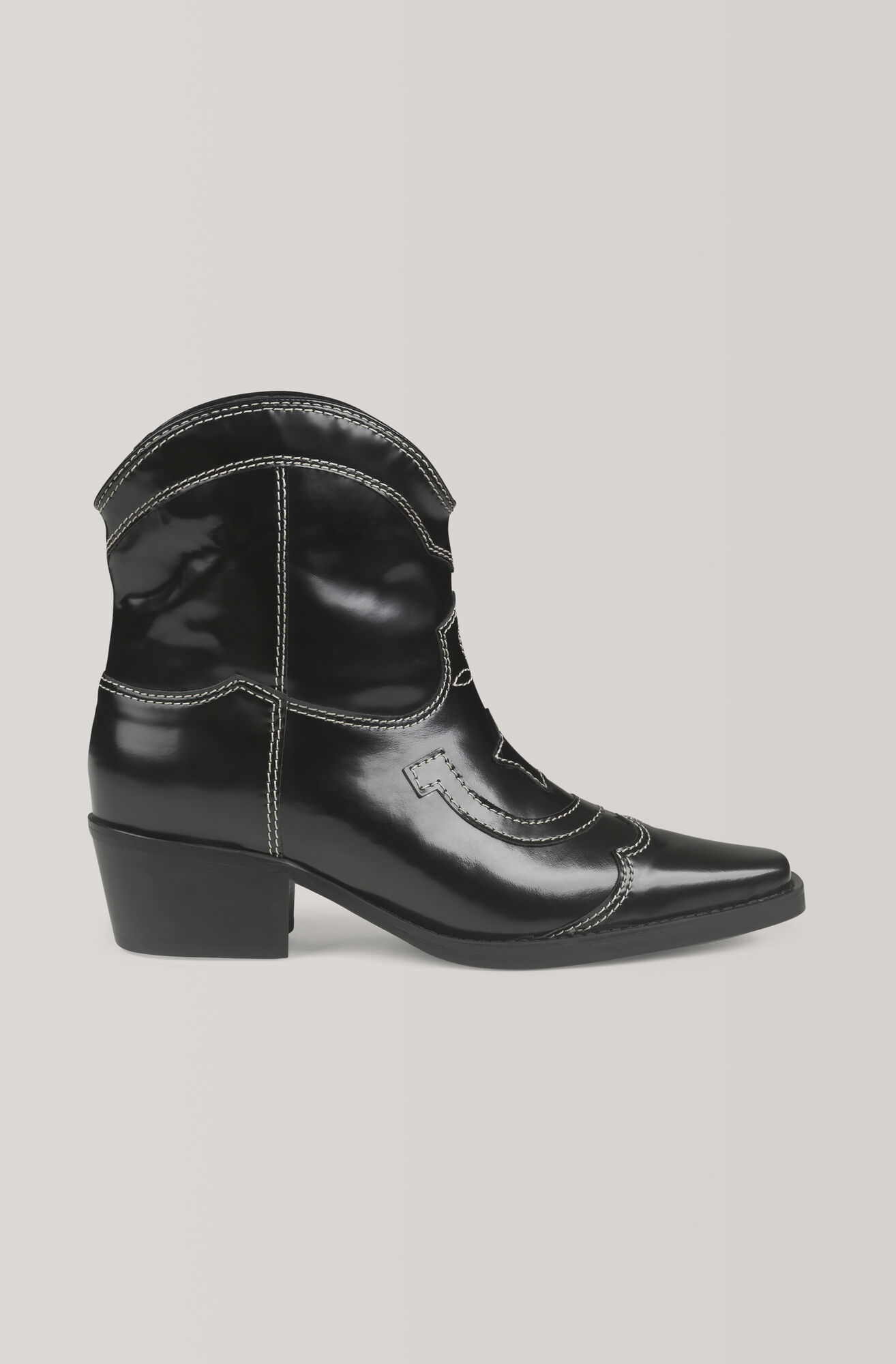 Low Texas Ankle Boots, Black, hi-res