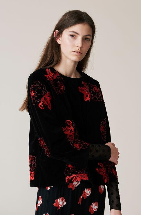 Jermyn Velvet Jacket, Black, hi-res