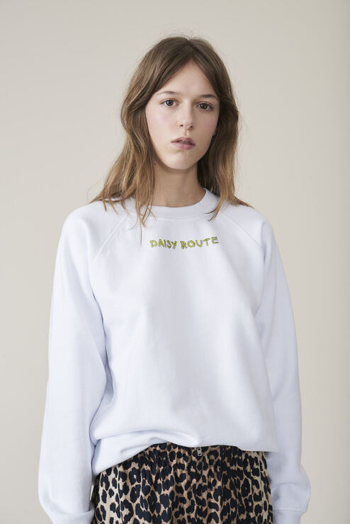 Lott Isoli Sweatshirt, Daisy Route, Bright White, hi-res