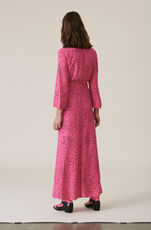 Barra Crepe Wrap Dress, Hot Pink, hi-res