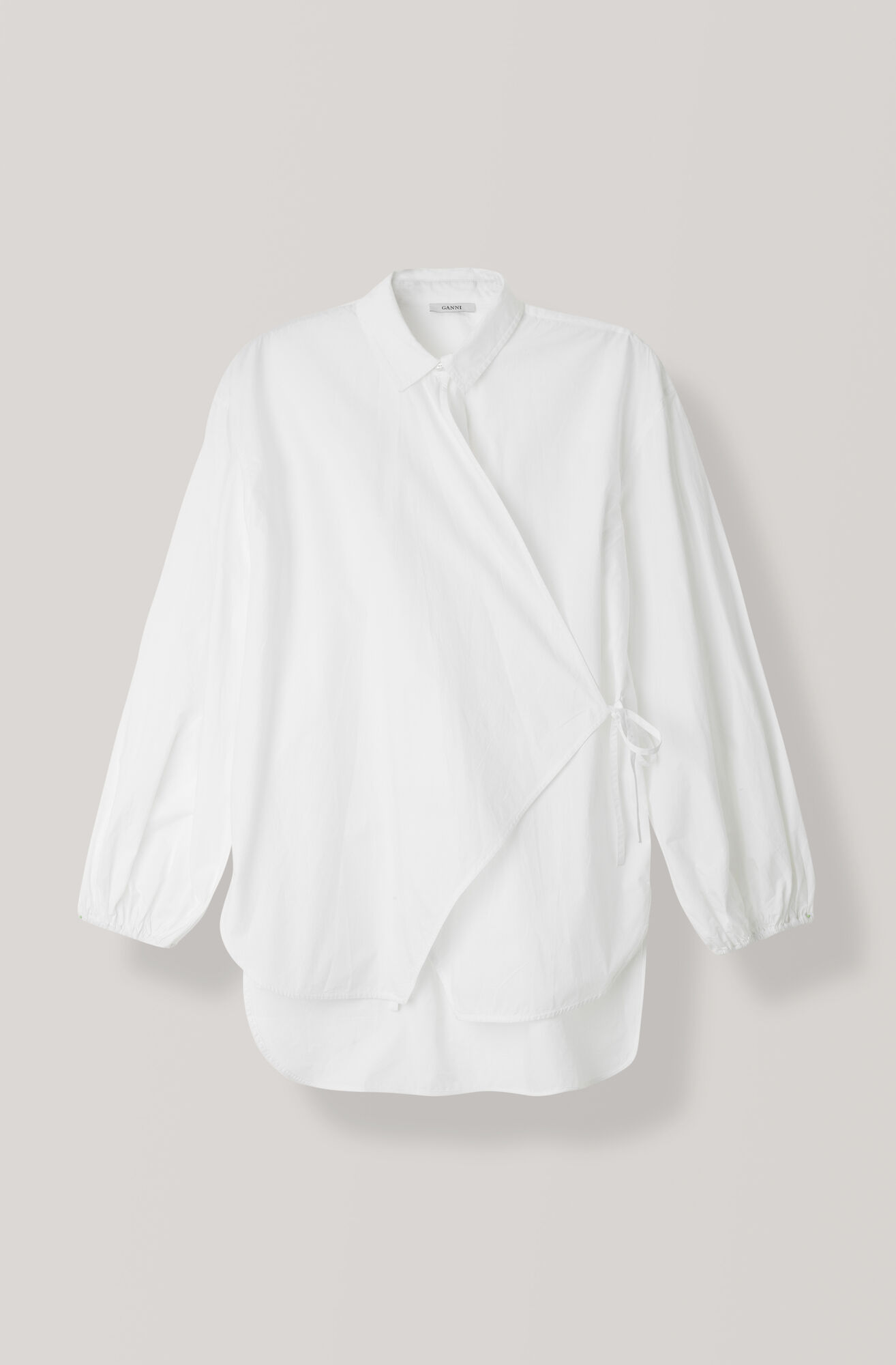Plain Cotton Poplin Blouse, Bright White, hi-res