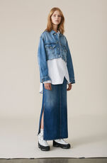 Denim Maxi Skirt, Medium Dark Denim, hi-res