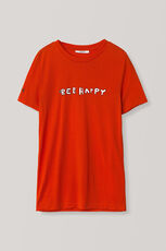Linfield Lyocell T-shirt, Bee Happy, Big Apple Red, hi-res